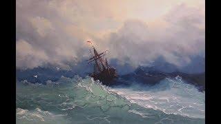 🔝 ХуДоЖнИкИ Морской пейзаж, картина маслом, Александр Григорьев
