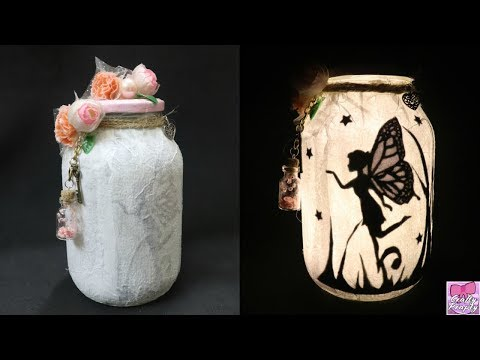 DIY Fairy Jar /How to make Fairy Lantern / How to make Fairy Glow Jar /Fairy Jar Tutorial