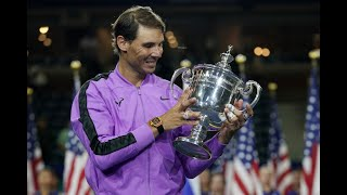 US Open 2019 men's singles trophy presentation