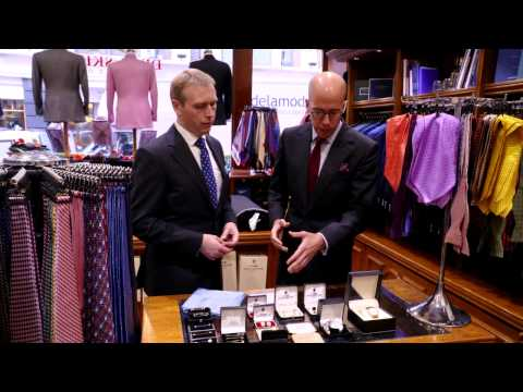 Tie Etiquette: The Royal Butler Visits Dege & Skinner bespoke tailors, Savile Row in London