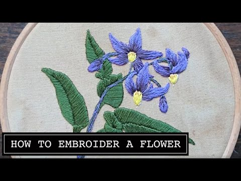 How to Embroider a Flower. Nightshade by Craft Jitsu Hand Embroidery Online Class