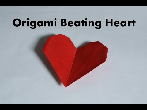 How to make a paper beating heart | origami beating heart tutorial ... | 360x480