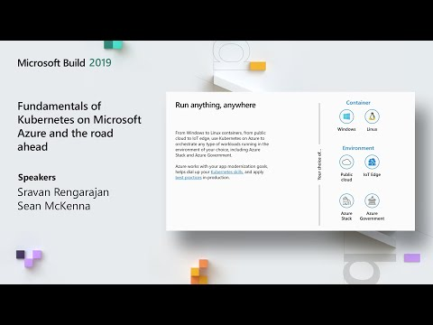 Fundamentals of Kubernetes on Microsoft Azure and the road ahead - BRK3038