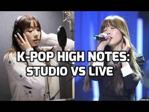 K-Pop High Notes : Studio Recordings vs Live Performances [Female Vocalists]