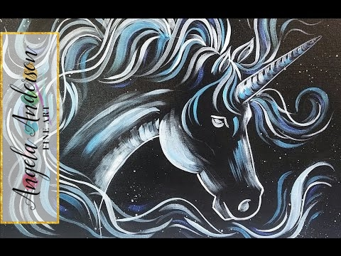 What Is Your Patronus >> UNICORN Acrylic Painting Tutorial LIVE Harry Potter HORSE ...