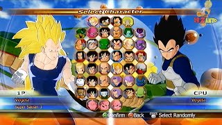 DragonBall Raging Blast: Summon Shenron + All Characters In Select Screen 【HD】