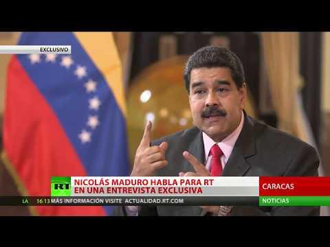 EXCLUSIVO EN RT: Maduro insta a Trump a detener la agresión a Venezuela