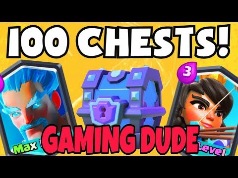 Unlock every chest in clash royal video by gaming dude