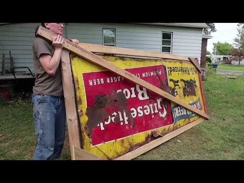 How to Move/Store Large Antique Signs: Building a Crate for Metal Billboards