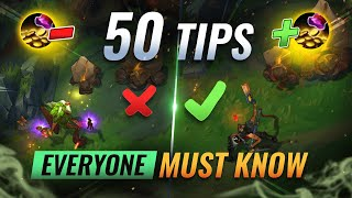 50 INCREDIBLE Tips & Tricks EVERYONE Must Know - League of Legends Season 11