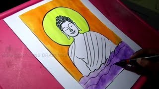 How to Draw Lord Gautam Buddha Drawing for Kids