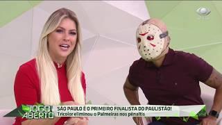 São Paulo elimina Palmeiras, avança e Denilson comemora