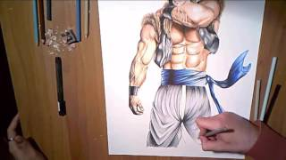 Speed drawing Realistic Gogeta SSJ
