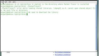 Error loading shared library libpng12 so when running Packet Tracer