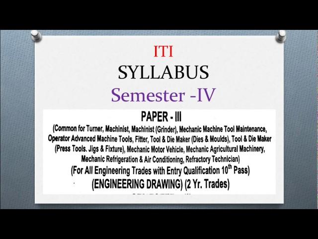 Semester IV syllabus Group A trade