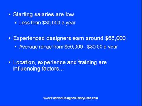 Fashion Designer Salaries Youtube