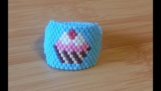 Repeat youtube video DIY Técnica peyote para anillo y brazaletes / Technical peyote to ring and bracelets