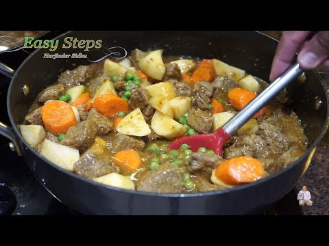How To Make Tasty Homemade Beef Stew | Beef Stew With Indian Style And Indian Masala