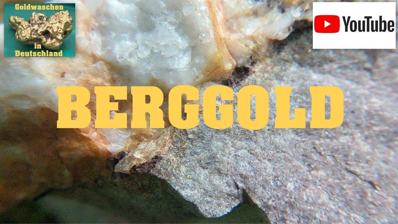 Goldwaschen in Deutschland ( 138 ) Berggold