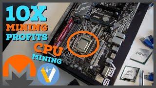 How I Increased My Mining Profits by 10x | Best CPUs for Mining Monero RandomX & Veruscoin