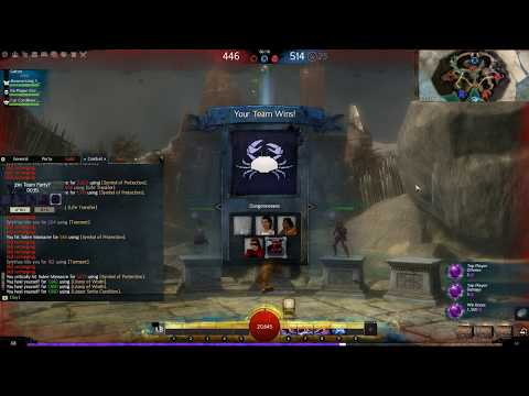 Guild Wars 2 PVP Match 4  -  Guardian Radiant Hammer - Testing the build and won 4v5!!