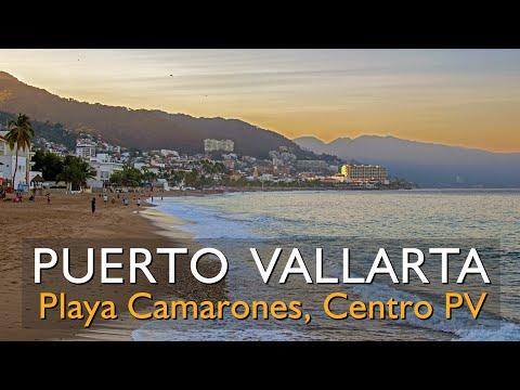 Playa Camarones en el Centro de Puerto Vallarta, año 2017 y 2018