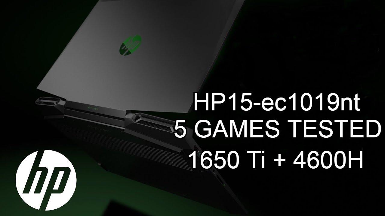 HP Pavilion 15-ec1019nt (GTX 1650 Ti + Ryzen 5 4600H) | High Quality | 5 GAMES TESTED | BENCHMARK