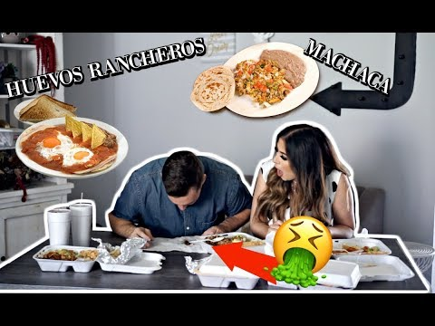 WHITE HUSBAND TRIES MEXICAN BREAKFAST FOODS FOR THE FIRST TIME