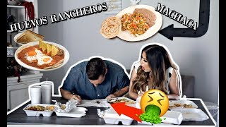 WHITE HUSBAND TRIES MEXICAN BREAKFAST FOODS FOR THE FIRST TIME: HE THROWS UP?!