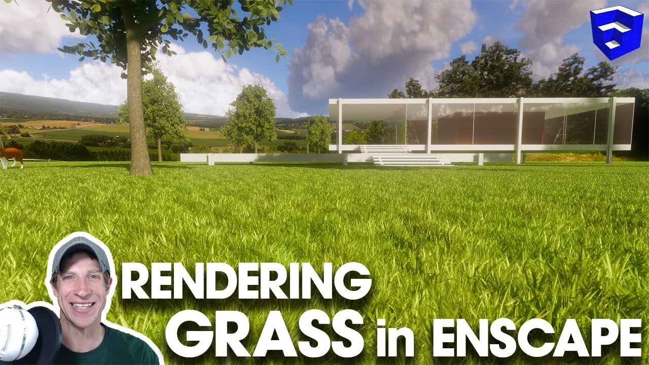 Rendering REALISTIC GRASS in Enscape!! - The Rendering