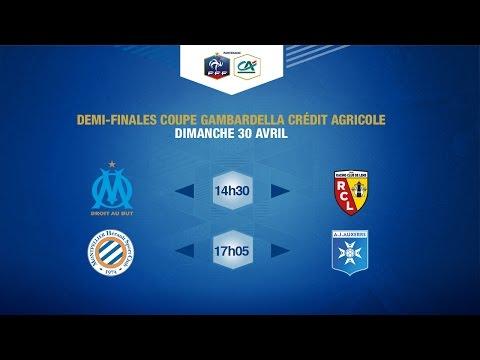Dimanche 30/04/2017 à 14h15 - Demi-Finales Coupe Gambardella Crédit Agricole !
