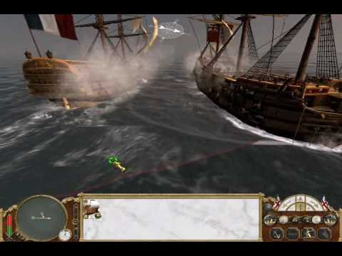 Empire Total War: British First Rate vs French First Rate Naval Battle