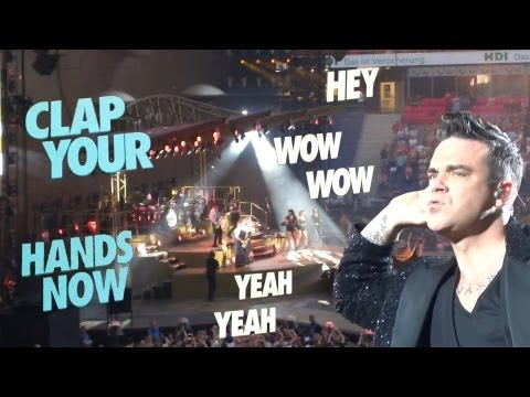 Robbie Williams - Opening Let Me Entertain You - Hannover 2013 - MultiCam - TOP Sound - NEW VERSION