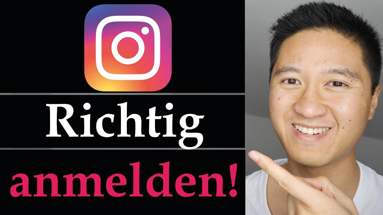 Instagram anmelden - Richtig Instagram Account erstellen - Instagram  Tutorial deutsch