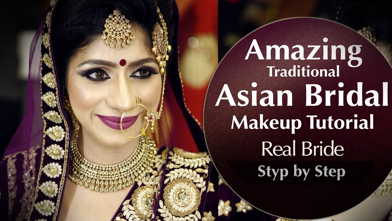 Traditional BRIDAL Makeup Tutorial Step by Step Asian ...