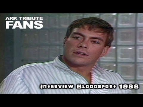 Jean Claude Van Damme -  Interview Promote Bloodsport  ( rare collection video )