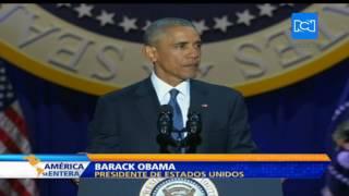 Así fue el último discurso de Barack Obama