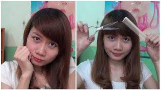 Hairstyles - Tự Cắt Tóc Mái 2 Trong 1 ( Mái Xéo + Mái Ngố ) Chỉ 1 Với Lần Cắt | Yêu Làm Đẹp