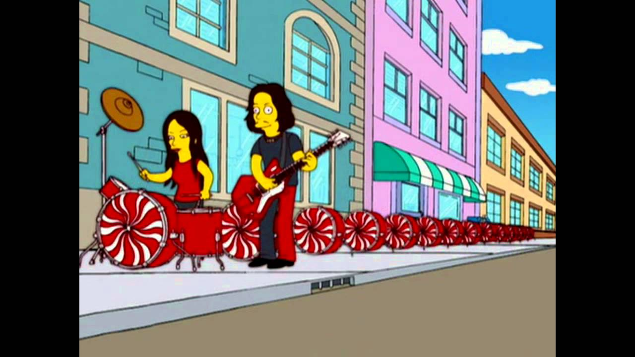 White Stripes The Hardest Button To Button The Simpsons