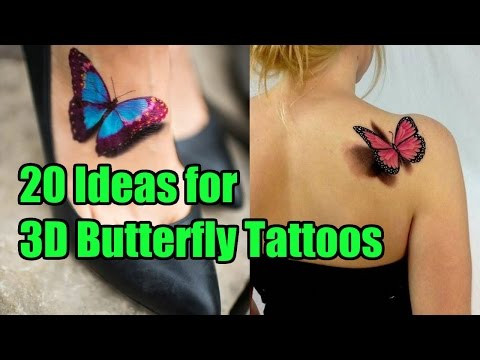 20 Unique Ideas for 3D Butterfly Tattoos | TATTOO WORLD
