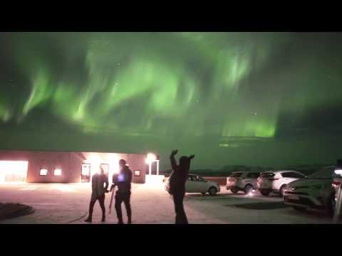 realtime aurora video Iceland