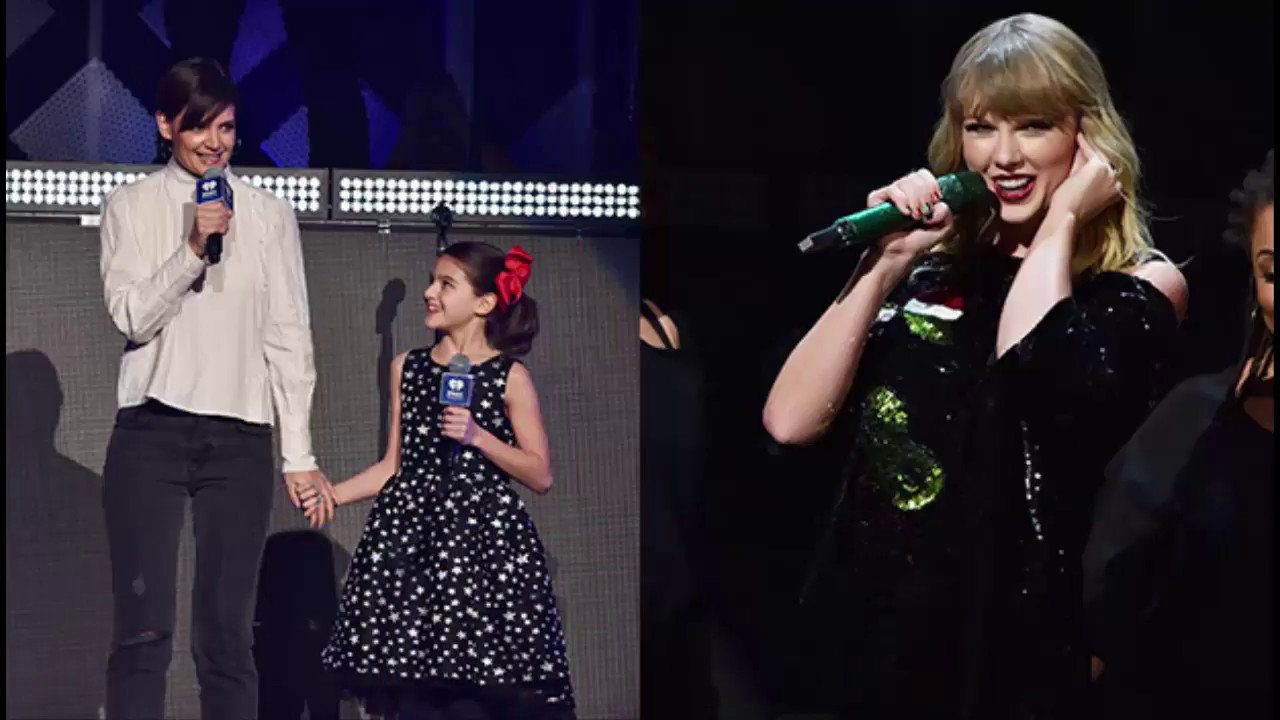 Suri Cruise Is So Excited To Introduce Her Idol Taylor Swift With Mom Katie At Jingle Ball  Cute Video