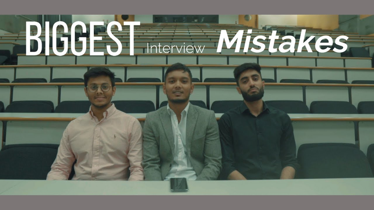 Biggest Interview Mistakes – Medicine & Dentistry (Med School Interview)