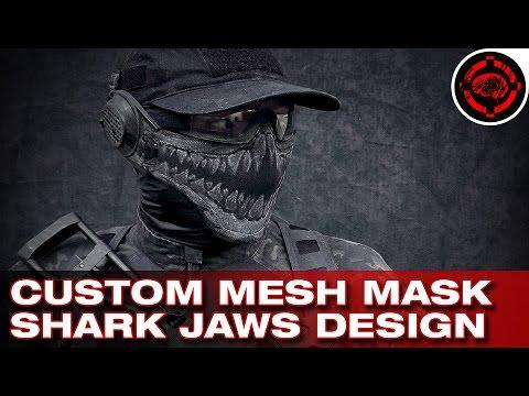 Custom Airsoft Mesh Mask Design (Shark Jaws) - YouTube