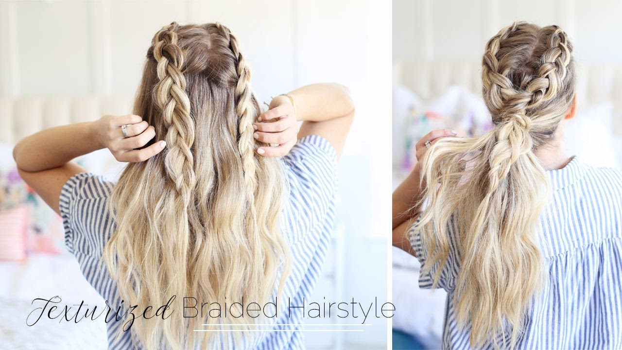 Hairstyles With Dutch Braids: Texturized Braided Hairstyle