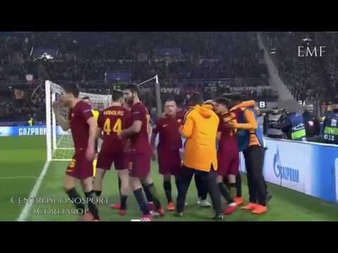 Roma 1-0 Shaktar Highlights Zampa, Piccinini, CentroSuonoSport, TeleRadioStereo, RomaTV, RadioRai