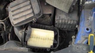 VW Caddy. Замена воздушного фильтра.