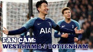 Download Video FAN CAM: West Ham 1-3 Tottenham: Sonny Double, Blue Flare, Scenes! 31/10/18 MP3 3GP MP4