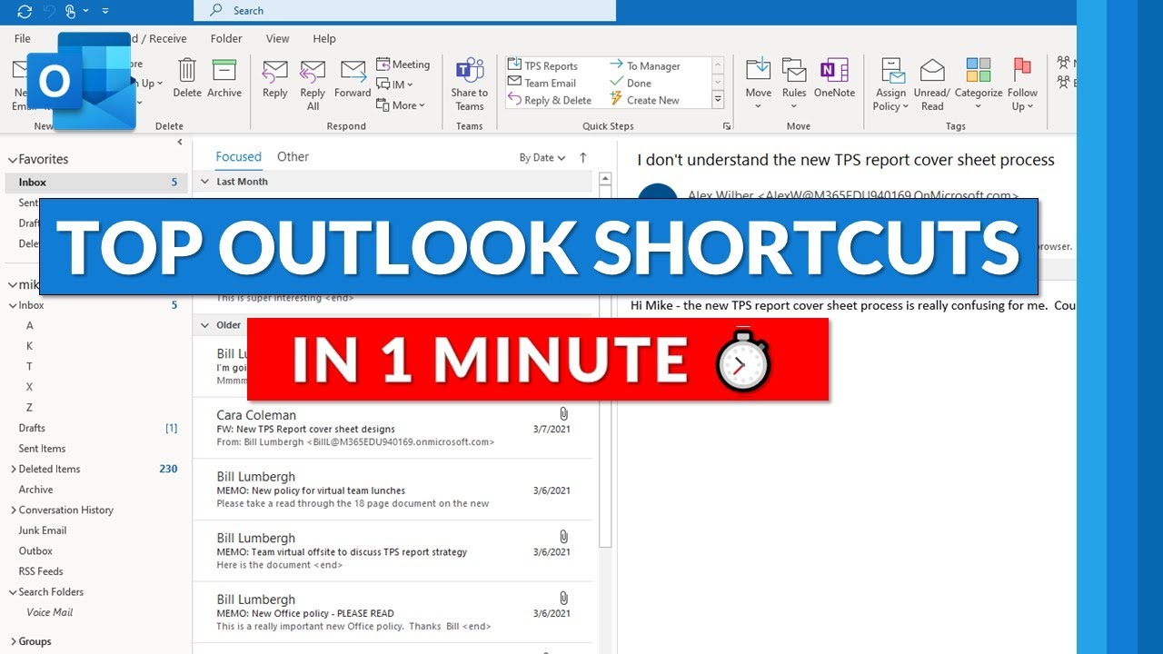 Top Microsoft Outlook keyboard shortcut keys in 1 minute ? Outlook Tips and tricks for 2021