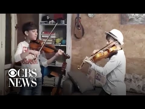 12-year-old Twins Play Violin Concert In Quarantine